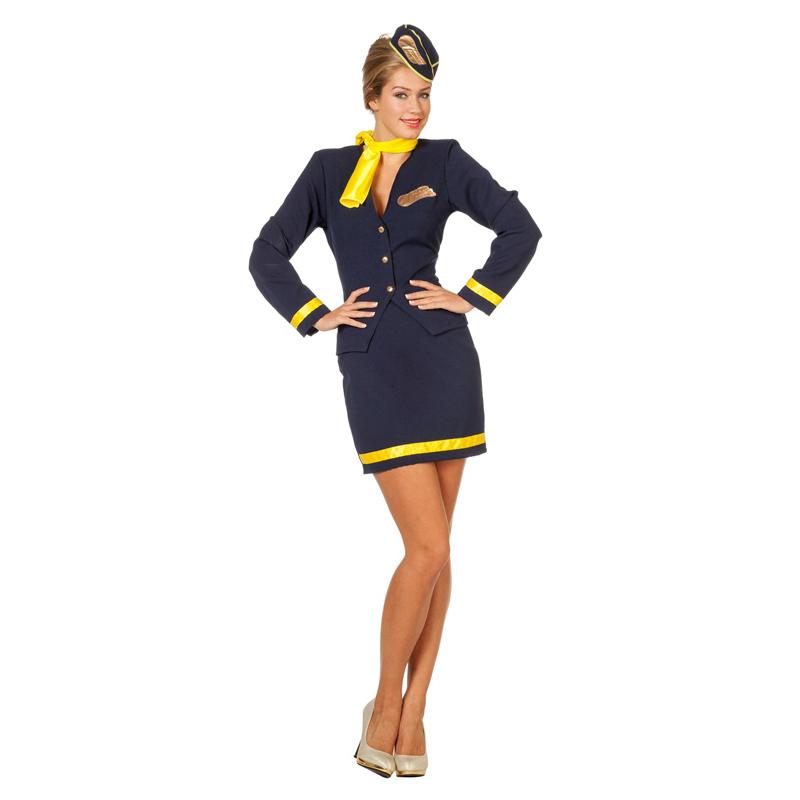 damen kost m pilotin blau gelb pilotinnenkost m. Black Bedroom Furniture Sets. Home Design Ideas
